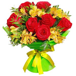 Счастливый мишка +30% цветов с доставкой в Екатеринбурге