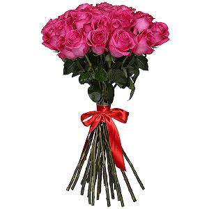 Букет из 33 розовых роз - премиум