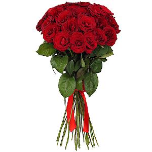 Букет из 25 красных роз - премиум