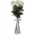 Букет из 7 белых роз - премиум